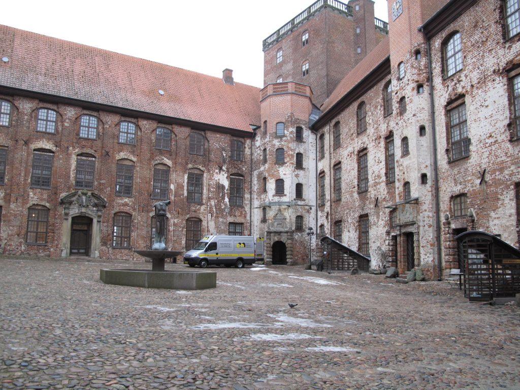 Facaderenovering og Betonrenovering ved Kolding, Sandblæsning af Koldinghus