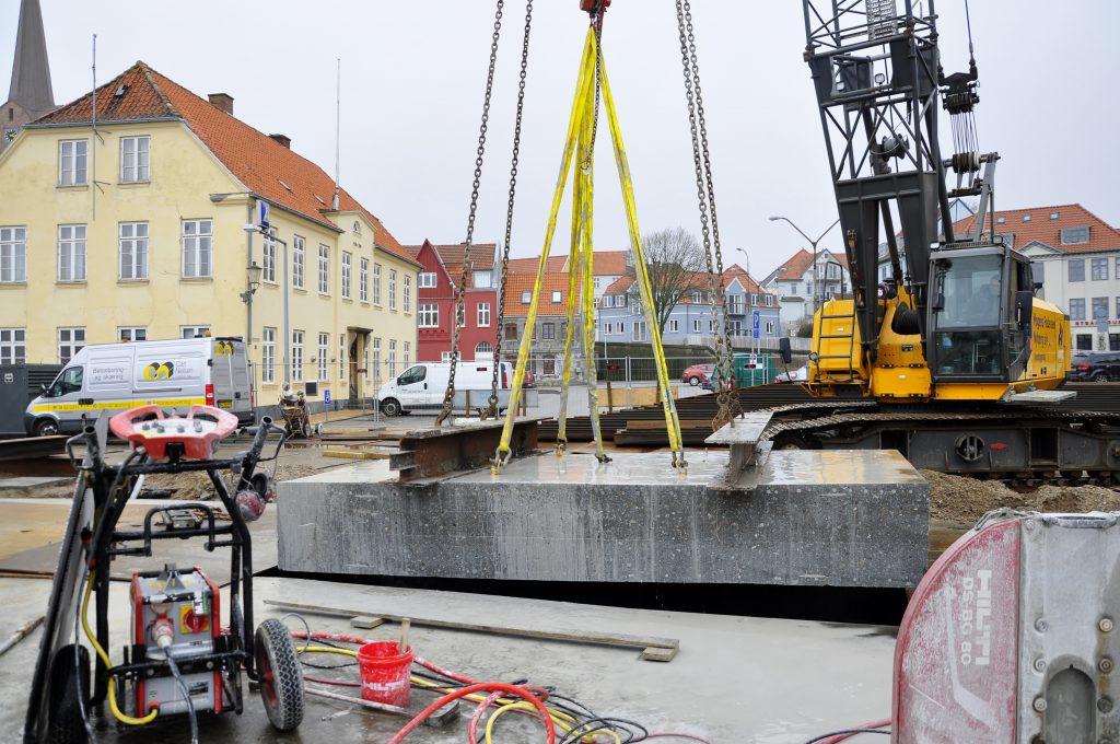 Brorenovering, betonskæring, Sønderborg havn