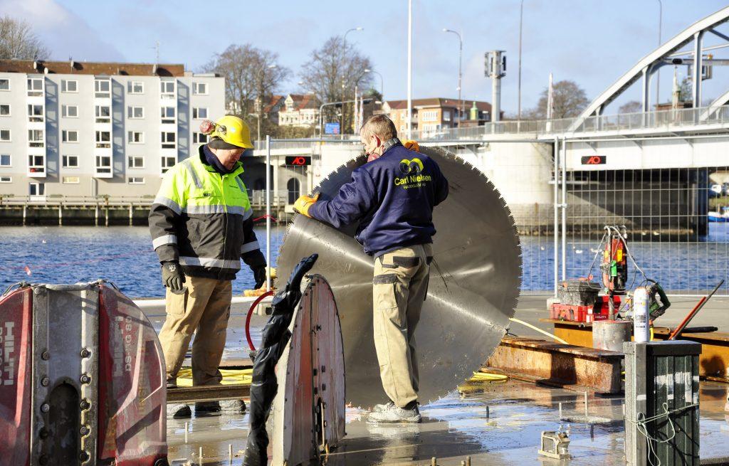 Brorenovering ved Sønderborg Havn